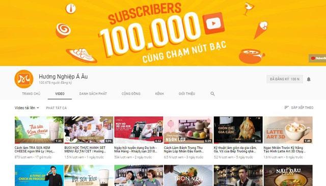 Kênh YouTube Hướng Nghiệp Á Âu - Cùng Bạn Chinh Phục Niềm Đam Mê Qua Những Thước Phim!