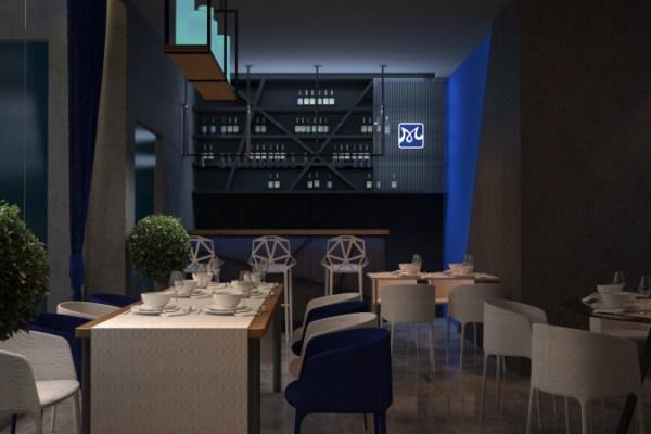 phối cảnh nhà hàng tại Quản Trị Nhà Hàng Khách Sạn Á Âu