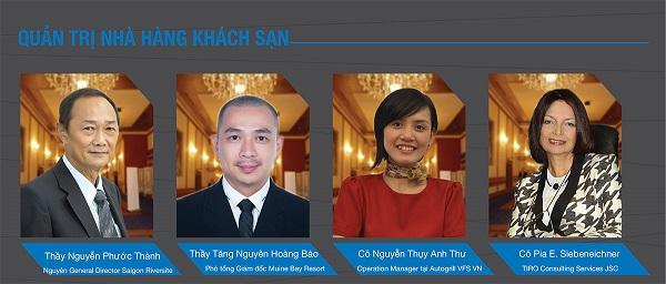Một số giảng viên đào tạo ngành quản trị nhà hàng tại HNAAu