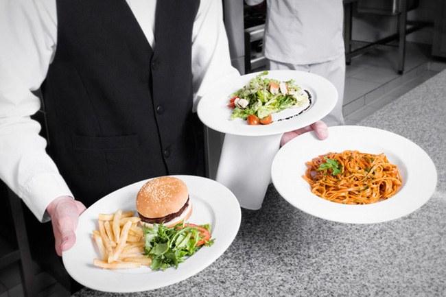 hamburger spaghetti and salad