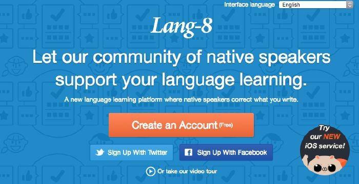 website học tiếng anh online lang-8